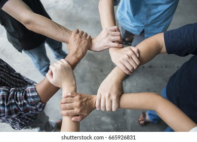 People Hand diverse multiethnic, Teamwork Concept