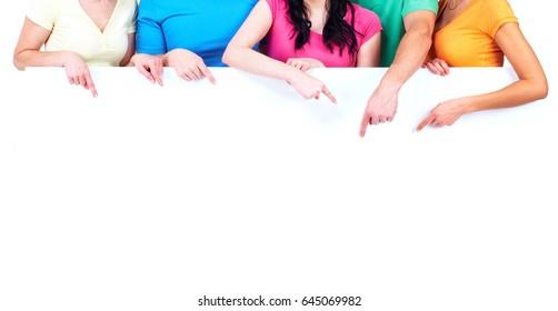 people hands with broadsheet