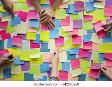 People Hands Hold Note Post It