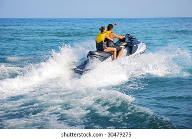 People having fun with Jetski