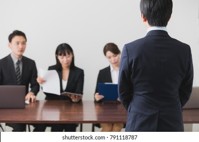 People of having an interview. Job hunting concept.