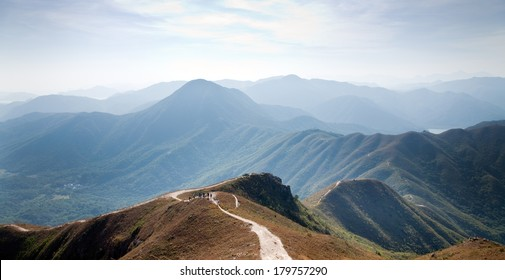 "People hiking in Mountain, Asia, ""Hong Kong"""