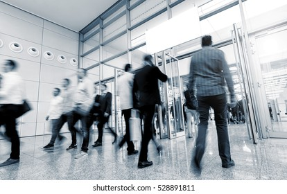 People at a International Trade Fair & Conference