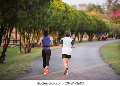 people jogging in the public park