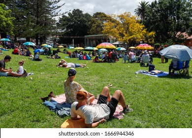 People at Kiama blues & jazz festival 2020 Hindmarsh park South Coast NSW  Australia 8 March 2020