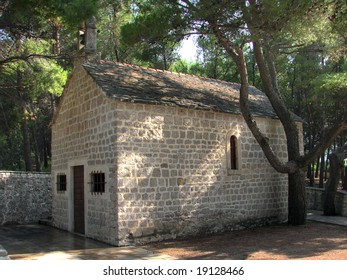 People living on Brac island on the Croatian Adriatic are very religious. That is why there are so many small chapels all around. This is the one just near the famous beach Golden horn (Zlatni rat).