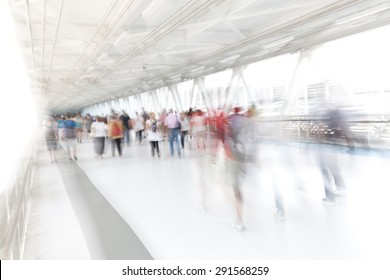people moving artistic blurred image