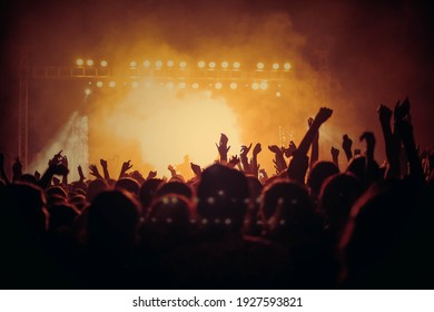 People At Music Concert HD Background