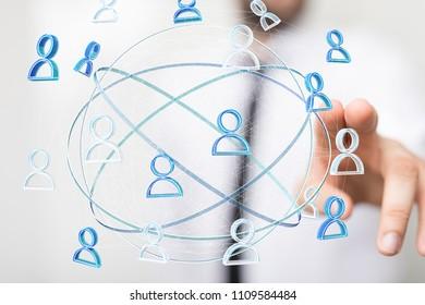people net in hand