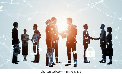People network concept. Group of person. Teamwork. Human resources.