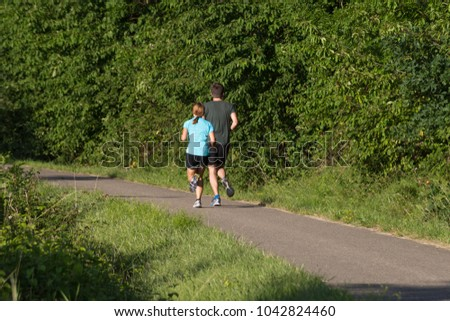 Running Free In Germanys Outdoor >> People On Outdoor Exercise Summer July Stock Photo Edit Now