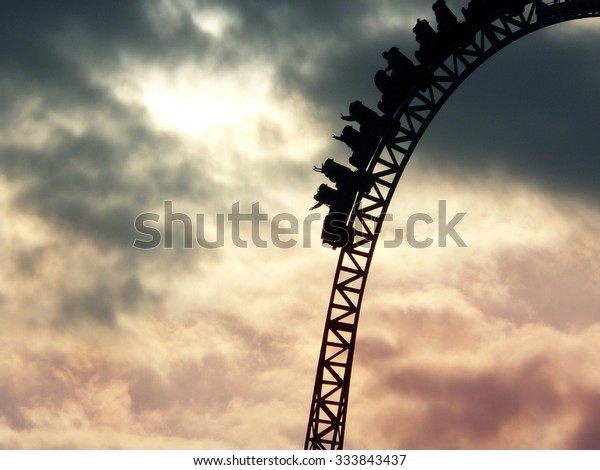 People on the roller coaster going down, UK