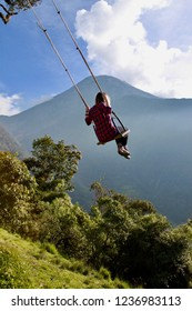 people on the swing of the end of the world, Ecuador, South America