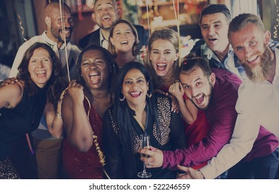 People Party Celebration Drinks Cheers Happiness Concept