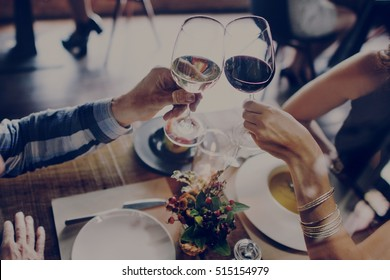 People Party Dating Celebration Drinks Cheers Happiness Concept