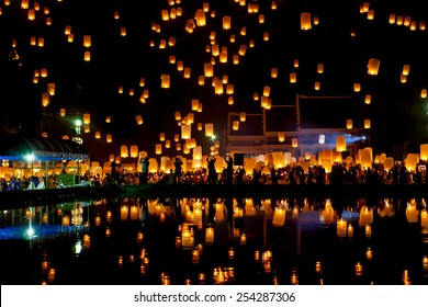People release sky lanterns to pay homage to the triple gem: Bud