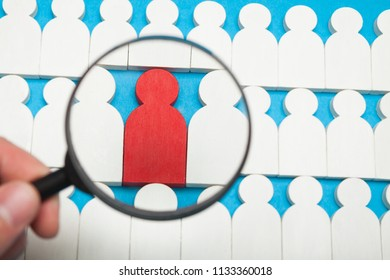People segmentation, outsourcing team or group. Acquisition business career.