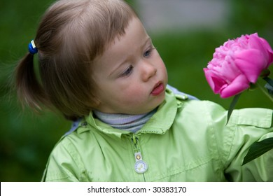 people series: little girl are smell the flower
