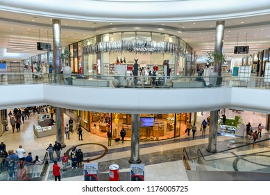 People Shopping in The Mall of Africa which is the Biggest & Luxury Mall  of the Africa Continent in Johannesburg, South Africa on 30th July 2018