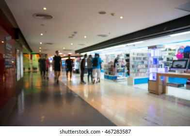 People Shopping in Shopping mall Retail Store, Abstract Blur or Defocus Background. Mobilephone Accessories  Shop