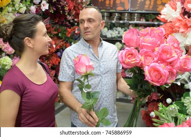 people shopping sale floristry and consumerism concept