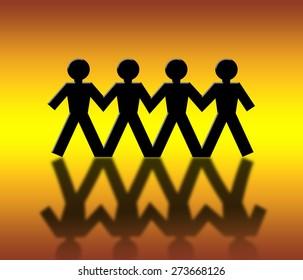 People silhouette business  Partnership