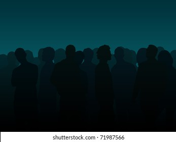 People silhouette illustration