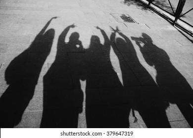 Friends Shadow Images Stock Photos Vectors Shutterstock