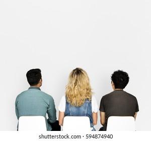 People Sitting Rear View Studio