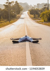 People sleeping in the road, Potraying someone who is weak and is giving up.