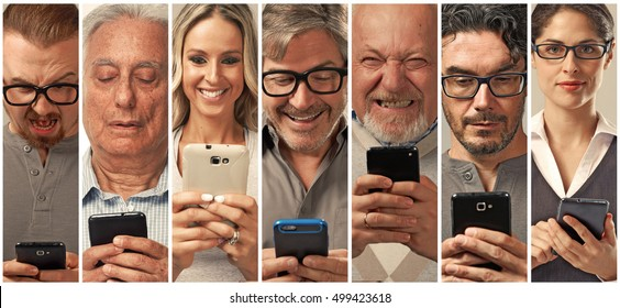 People with smartphone.