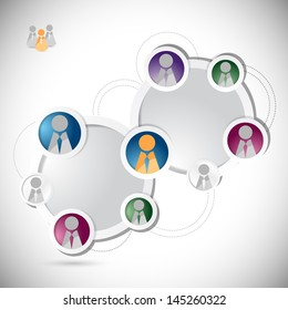 people social network circle colorloop business, template illustration design graphic