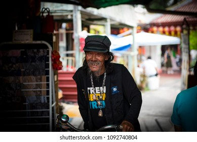 People in the streets of Georgetown, Penang, Malaysia, May, 2018