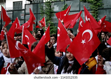 People take part in a commeration ceremony in museum of founder of the Republic of Turkey Mustafa Kemal Ataturk in Thessaloniki, Greece on Nov. 10, 2014