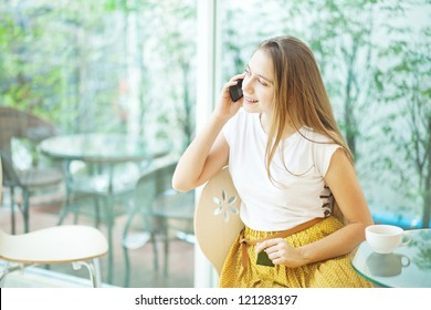 People talking by mobile phone