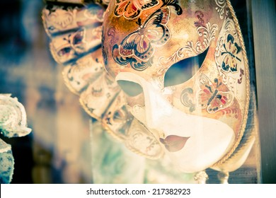 People with typical venetian carnival costume at the Carnival of Venice.The Carnival of Venice is a annual festival held in Venice and is one of the most popular and appreciated carnival in the world.