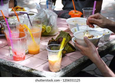 People use plastic and foam container fill food and drink it's cause the garbage.