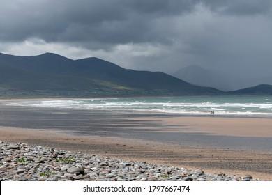 People walking along the beach, Castlegregory, County Kerry, Ireland