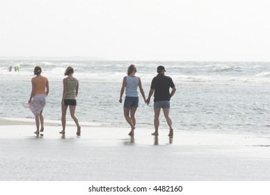 People walking at the Beach