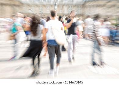 People walking in the city, Paris