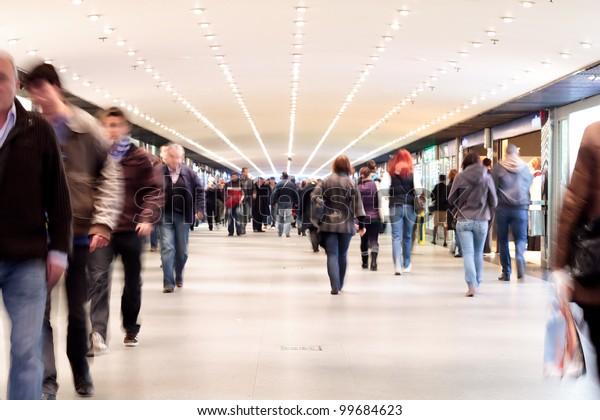 People walking - motion blur