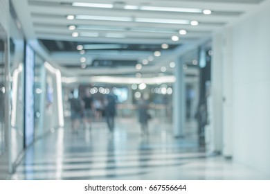 people walking on  corridor of an Shopping ,Blur abstract background