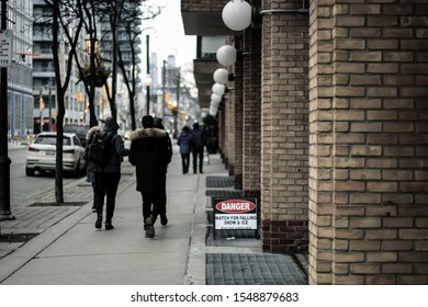 People walking on the street in the city
