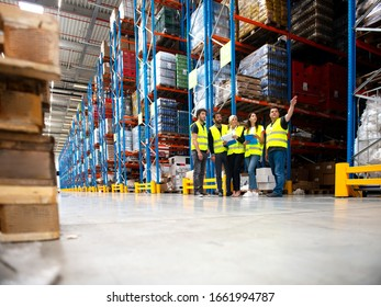 People in Warehouse, managers and Workers