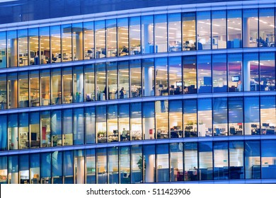 People working at office building in London
