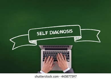PEOPLE WORKING OFFICE COMMUNICATION  SELF DIAGNOSIS TECHNOLOGY CONCEPT