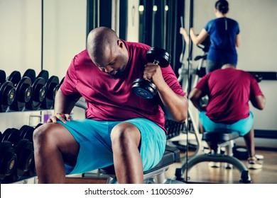 People working out at a gym
