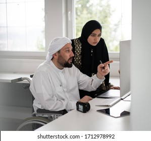 People working together on computer
