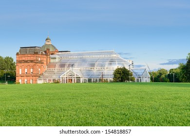 The People's Palace and Winter Gardens in Glasgow, Scotland, UK is a museum and glasshouse situated in Glasgow Green