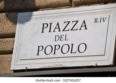 People's Square (Piazza del Popolo) is a large urban square in central Rome.